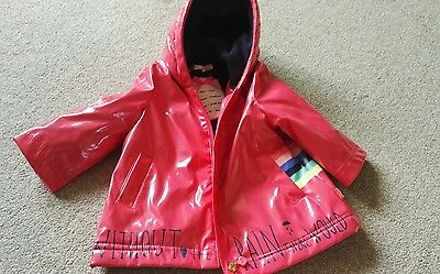 Lovely Pink Hooded Rain Jacket- Billieblush - Age 6 Months - Vgc!