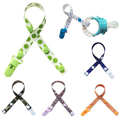 New Baby Pacifier Strap Infant Dummy Soother Clip Buckle Nipple Teether Holder
