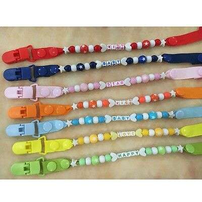 Baby Pacifier Chain Lovely Multi-type Beads Teether Holder Soother Nipple String