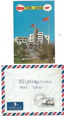 1978 Greece Forces in Cyprus Cover Gazi Magusa and Postcard