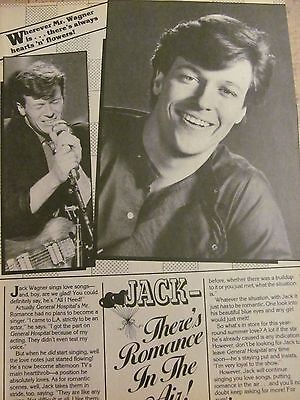 Jack Wagner, Full Page Vintage Clipping