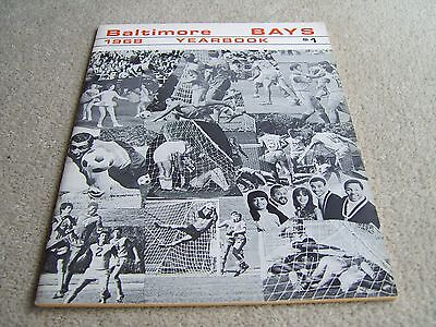 1968 Baltimore Bays Yearbook in excellent condition, vintage NASL item