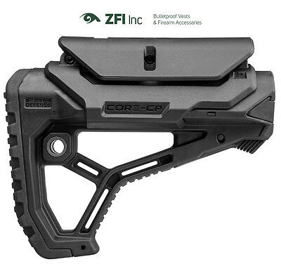 GL-CORE CP Fab Defense Mil Spec / Commercial Buttstock w/ Adjustable Cheek-Rest