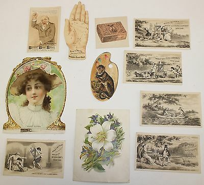 Antique Victorian Advertising Trade Cards Hoods Medicine Wheat Bitters Root Beer