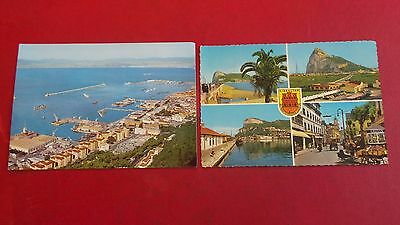 Gibraltar, 2 x vintage, Blank, Colour, Scenic, Postcards. Various views & years.