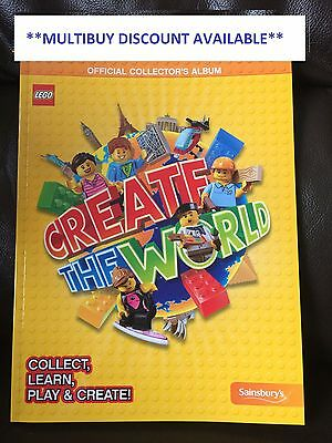 Sainsburys Lego Create The World Collectors / Trading Cards For Album Choose