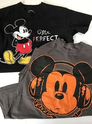 Lot Of 2 Disneyland Mickey Mouse T-shirts Men's Tagged M FITS SMALL Best Used