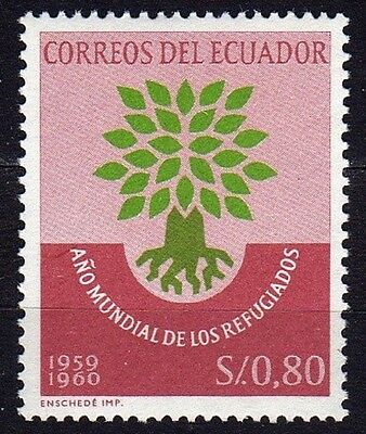 Ecuador #656 Mnh World Refugee Year (Uprooted Oak Emblem)