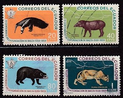 Ecuador #657-660 Used Complete Set Of Animals