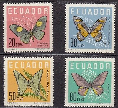 Ecuador #680-683 Mnh Complete Set Of Butterflies