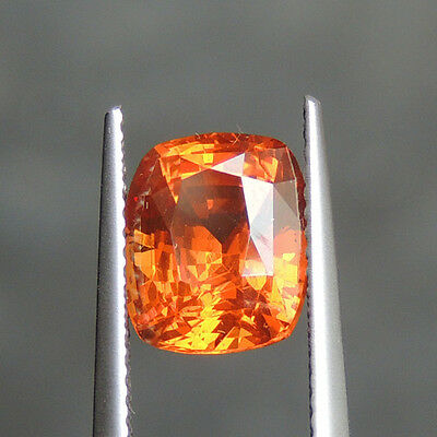 Natural certified 4.15ct Orange Spessartite Garnet loose gemstone worth 1000$