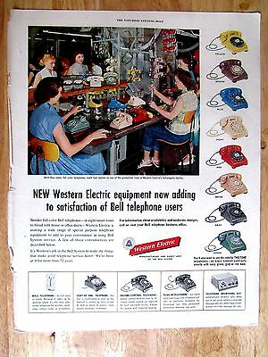 1950s Western Electric Telephone  Print Ad  10 x 13 in