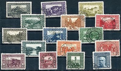 1906 - Bosnia & Herzegovina - Views Set Of 16, Perf 9½, Used