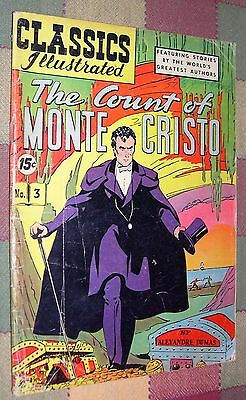 Classics Illustrated Comics No 3 The Count of Monte Cristo by Alexandre Dumas