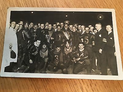 postcard photo 1930s speedway riders