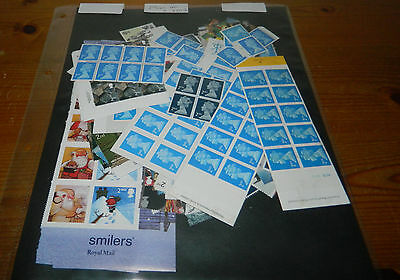 GB POSTAGE: 250 x 2nd CLASS STAMPS (FACE VALUE £140)