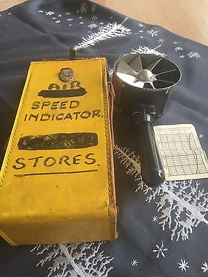 Vintage Hand Held Air Speed Indicator