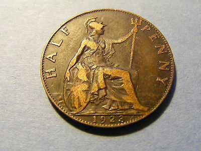 1923 George V Half Penny Coin  - Nice Condition -
