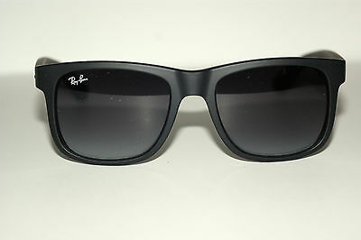 Rayban  Sunglasses Justin  4165  Matte  Black 601/8G 51Mm Eyesize Authentic New
