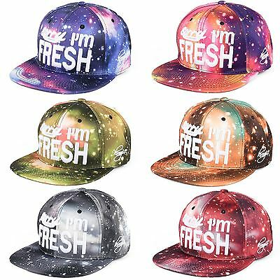 "Unisex Space ""Sorry I'm Fresh And You're Not"" Adjustable Baseball Cap Hat"