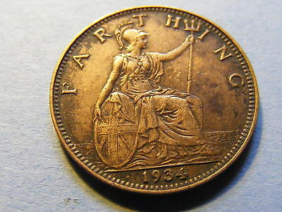 1934 George V Farthing Coin  - Much Lustre - Rare Year