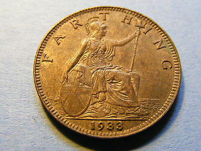 1933 George V Farthing Coin  - Much Lustre
