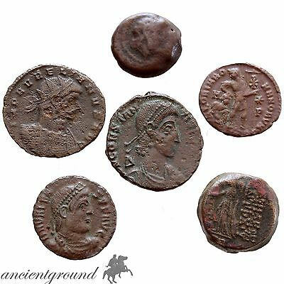 Group Of 5 Ancient Greek & Roman Ae Coins