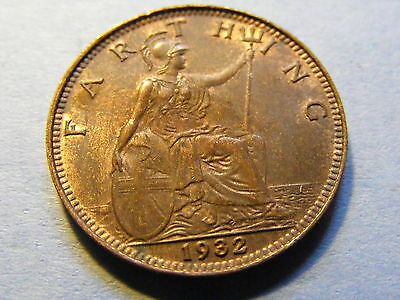 1932 George V Farthing Coin  - Much Lustre