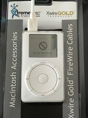 iPod Classic 1st & 2nd Generation FireWire 6 Pin Male Cable Only 2M Long NEW