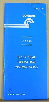 Conrail Electrical Operating Instructions 1978 C.T. 290 Soft Cover