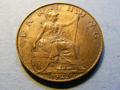 1923 George V Farthing Coin  - Much Lustre