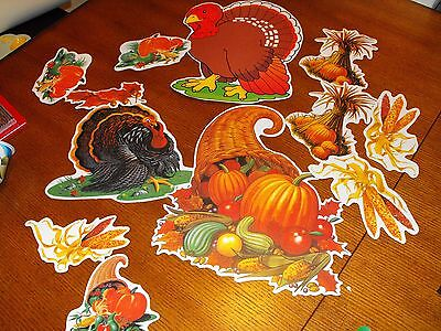 Thanksgiving Die Cut Holiday Decorations Lot