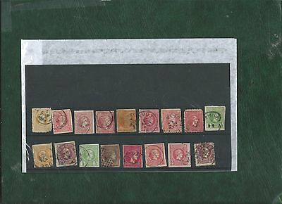 Greece nice selection of 17 used mostly imperf small and large Hermes heads