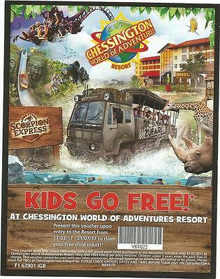 2 for 1 Voucher Ticket - Chessington World of Adventure Resort