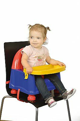 NEW Safety 1st Swing Traye Safety Booster Seat - Red/Blue/Yellow