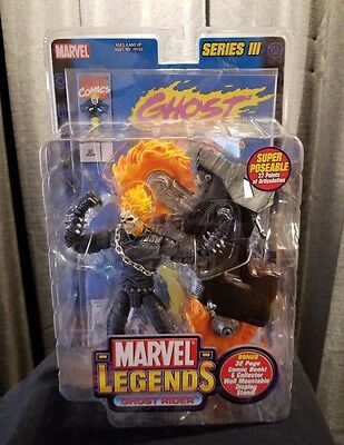 "Hasbro Marvel Legends Series 3 Ghost Rider 6"" Action Figure With Bike NEW Toybiz"