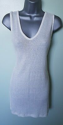 Bnwt Marks & Spencer Linen Long Top Cover Dress Perfect Summer Size 10