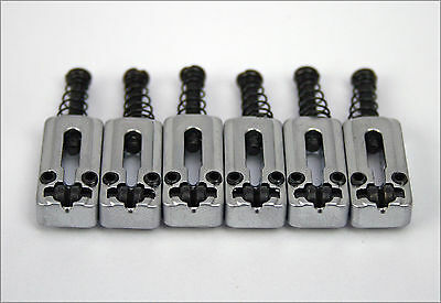 Six Replacement Friction Reducing Roller Bridge Saddles For S & T Type Guitars