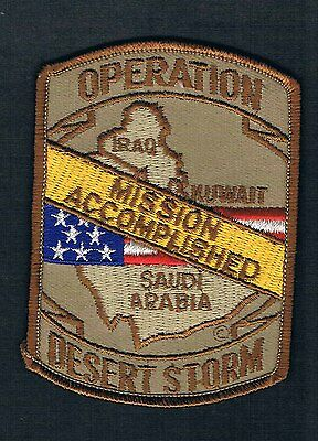 Operation Desert Storm Mission Accomplished 1991 Patch