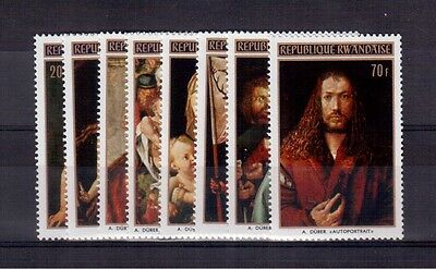 Rwanda 1971 #423/30 Set Mint Nh, Paintings By Albrecht Durer !!