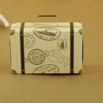 50pcs Mini Suitcase Paper Candy Box Chocolate Boxes Sweet Gift Bags Wedding