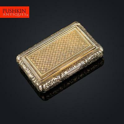 ANTIQUE 19thC FRENCH 18K SOLID GOLD SNUFF BOX, SIMON ACHILLE LEGER c.1820