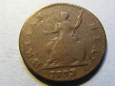 1773 George III Farthing Coin  - Nice Condition