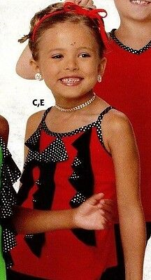 NWOT Dance Costume Camisole Top w/ Hologram Dots  Red small child sample