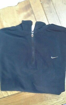 Nike Womens Fleece Top Sweatshirt black/charcoal Golf Sport size L fitted 38""