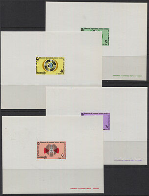 Cambodia 1971 Telecommunications Day Sc #255-258 Deluxe Proofs