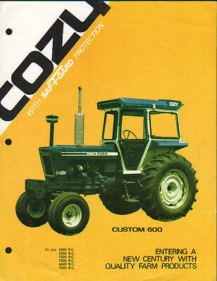 "1976 Cozy ""Custom 600"" Ford Tractor Cab Brochure Leaflet"