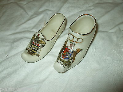 Crested Ware Clogs  Blackpool And Bradford