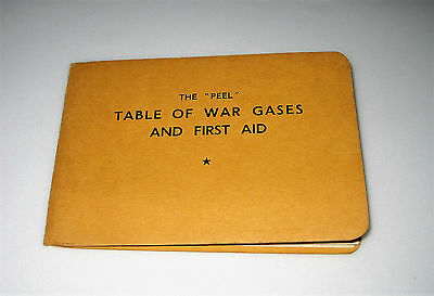 WW2 Home Front TABLE & CHART OF WAR GASES