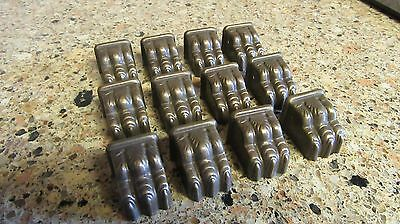 Lot of 12 Vintage Brass  Lion Claw Foot End Toe Caps for Furniture Leg